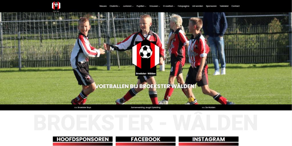 Website Broekster - Wâlden